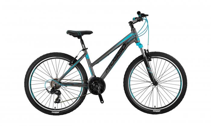 "Bicicleta Mosso Wildfire Lady , V-16  , Roata 26"" , Aluminiu , Culoare Gri/turcoaz [0]"