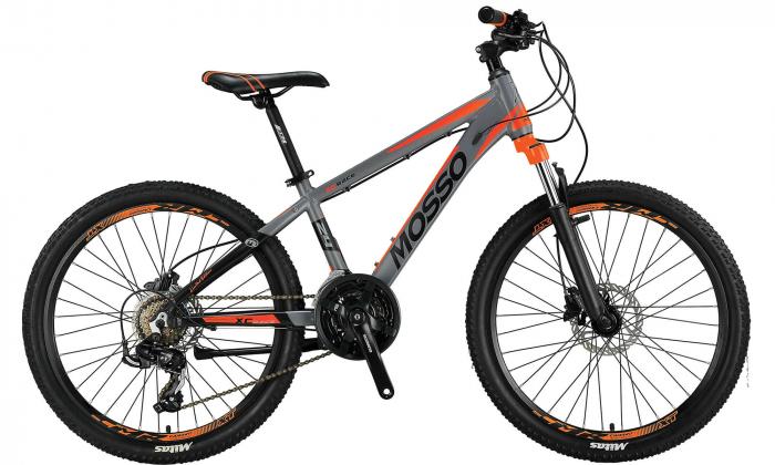 """Bicicleta Mosso Wildfire M-24- HYD - 13 , Roata 24"""" , Aluminiu , Culoare gri/portocaliu [0]"""