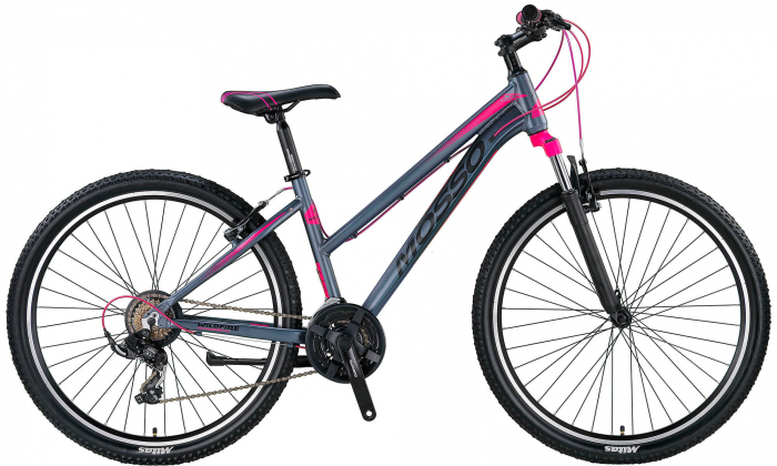 "Bicicleta Mosso Wildfire V Lady , Roata 27.5"" , Aluminiu , Culoare Gri/Roz [0]"