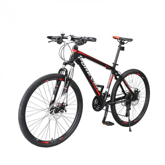 """Bicicleta MTB-HT Forever F24T1B, roata 24"""", cadru aluminiu, 27 viteze, culoare negru/rosu [2]"""