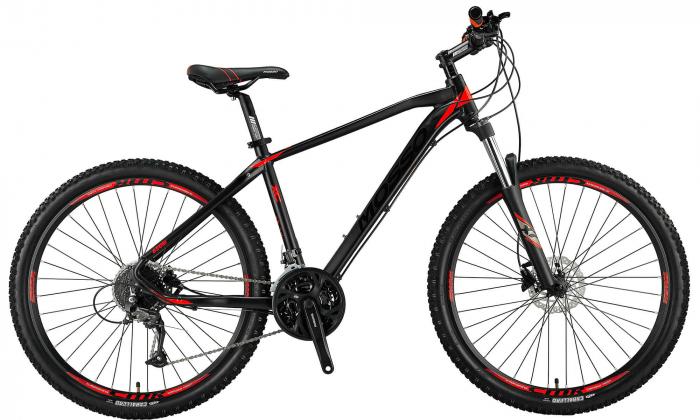 "Bicicleta MTB Mosso Black Edition Hidraulic , Roata 27.5"" , Altus + Alivio , Cadru 20, Culoare negru/rosu [0]"