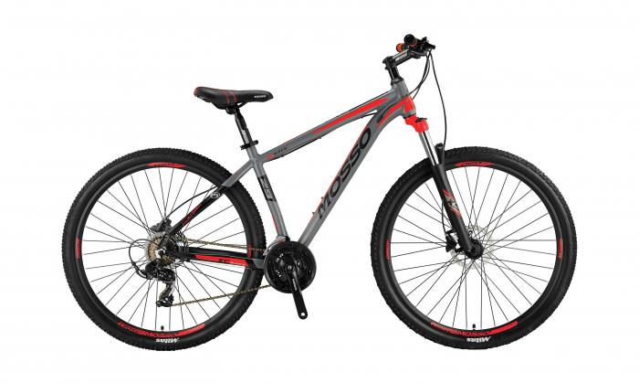 """Bicicleta MTB Mosso Wildfire LDT HYD , Roata 27.5"""", Altus , Cadru 20"""", Culoare Gri/Rosu [0]"""