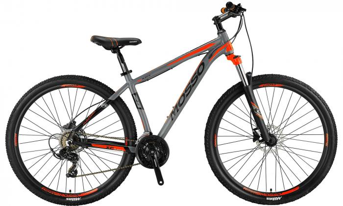"""Bicicleta MTB Mosso Wildfire LDT HYD , Roata 29"""", Altus , Cadru 16"""", Culoare Gri/Portocaliu [0]"""