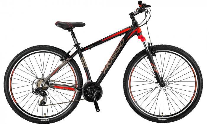 "Bicicleta MTB Mosso Wildfire M , Roata 29""- V , Tourney , Cadru 16"", Culoare Negru/Rosu [0]"