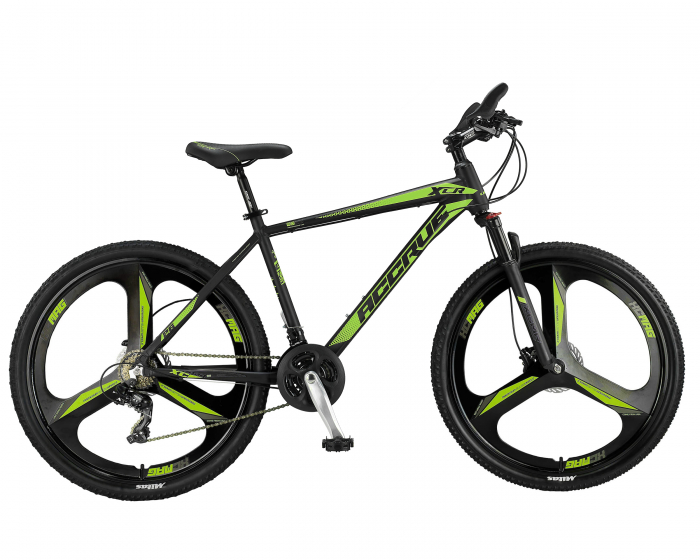 """Bicicleta MTB Umit Accrue HYD Cadru 18"""" 21 viteze culoare negru/lime roata 27,5 [0]"""