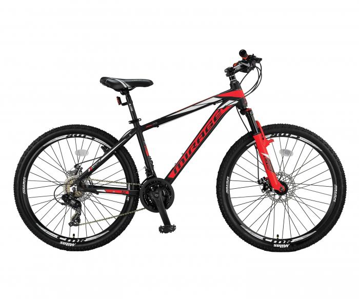 """Bicicleta MTB Umit Mirage 2D Cadru 16"""", 21 Viteze , Culoare Negru/Rosu, Roata 26"""" , Cadru Aluminiu [0]"""