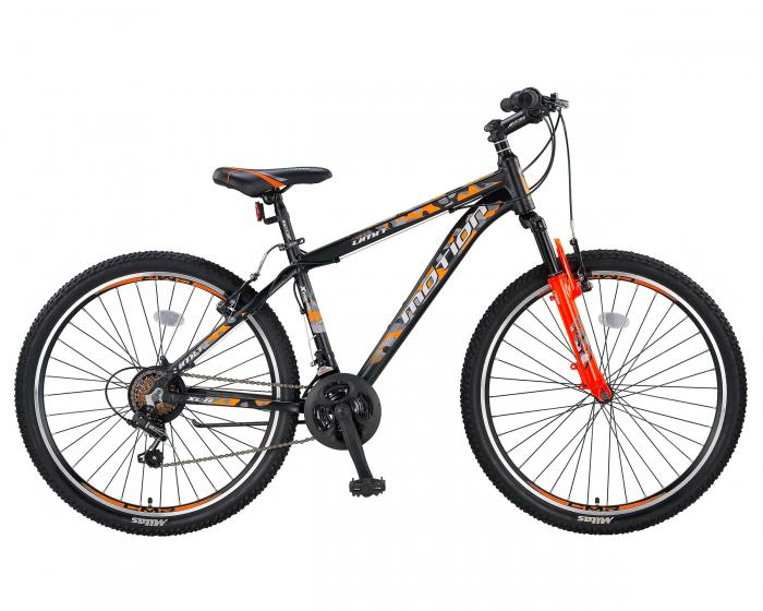 """Bicicleta MTB Umit Motion Cadru 18"""" , 21 Viteze , Culoare Negru/Portocaliu Roata 26"""" [0]"""