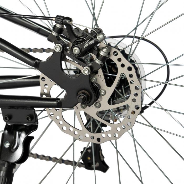 """Bicicleta munte, dubla suspensie, RICH R2750D, roata 27.5"""", frana disc, 18 viteze, negru/rosu [7]"""