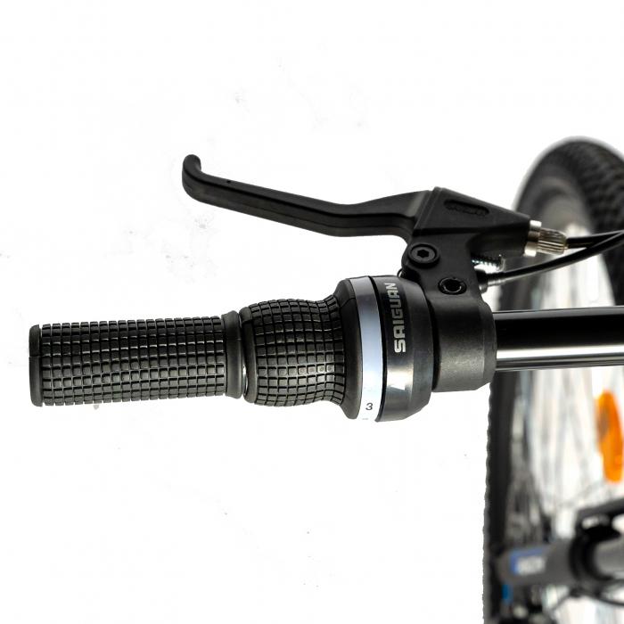"""Bicicleta munte, dubla suspensie, RICH R2750D, roata 27.5"""", frana disc, 18 viteze, negru/rosu [9]"""