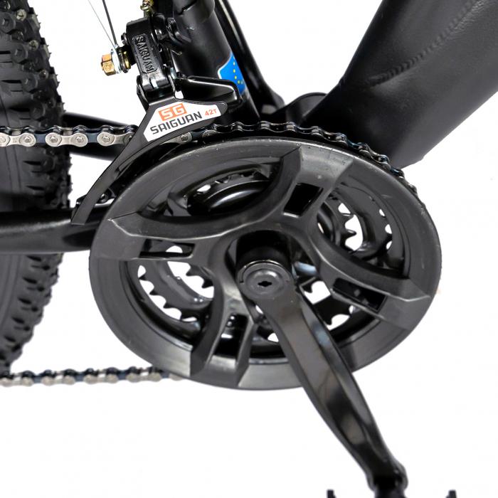 """Bicicleta munte, dubla suspensie, RICH R2750D, roata 27.5"""", frana disc, 18 viteze, negru/rosu [3]"""