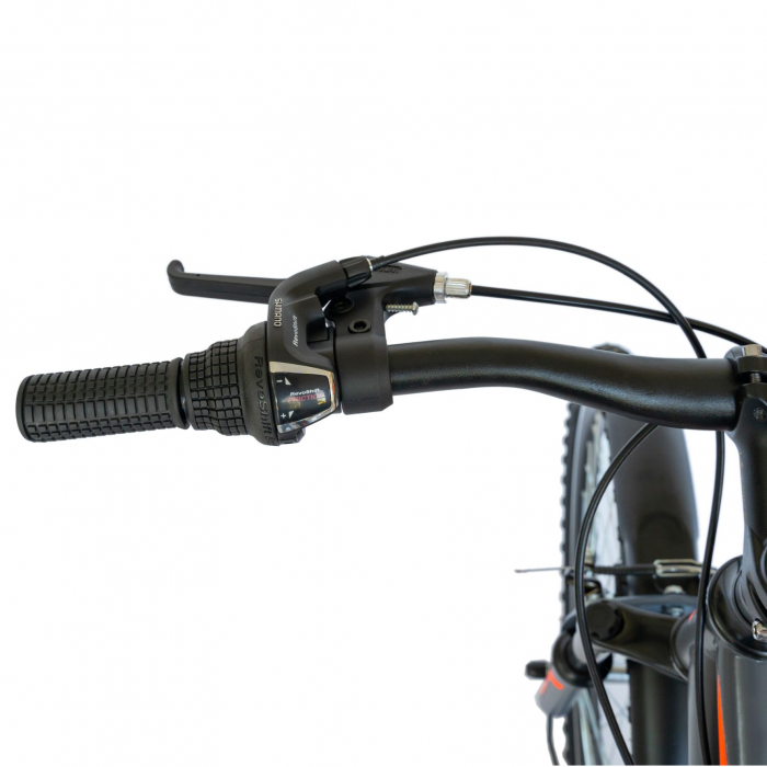 Bicicleta oras Velors V2633B, roata 26 inch, echipare Shimano, 18 viteze, culoare gri/portocaliu [7]