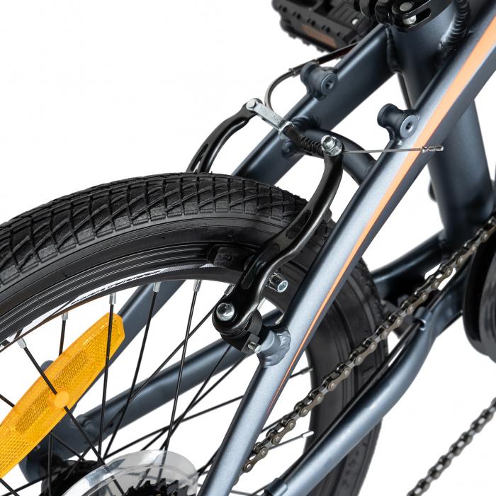 """Bicicleta pliabila 20"""" CARPAT C2052C, echipare SHIMANO 7 viteze, culoare gri/portocaliu [4]"""