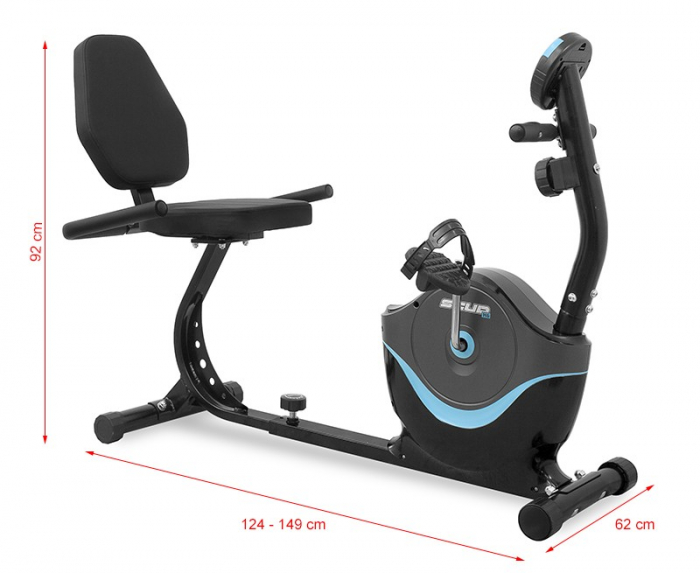 Bicicleta Recumbent SCUD H6 - Negru [10]