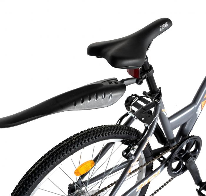 """Bicicleta TREKKING 24"""" RICH R2430A, 6 viteze, culoare gri/portocaliu [3]"""