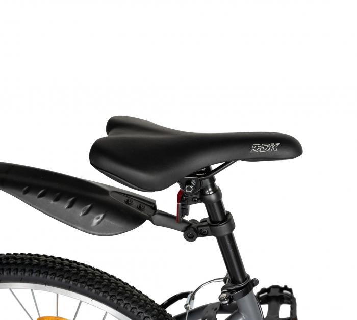 """Bicicleta TREKKING 24"""" RICH R2430A, 6 viteze, culoare gri/portocaliu [2]"""
