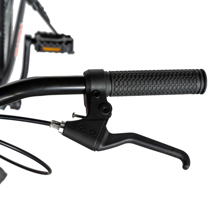 """Bicicleta TREKKING 24"""" RICH R2430A, 6 viteze, culoare gri/portocaliu [13]"""