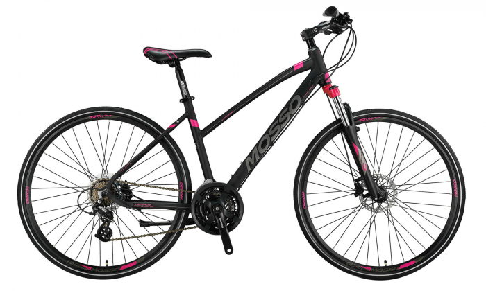 "Bicicleta Trekking Mosso Legarda 2021 -LSM -H - 460, Roata 28"", Aluminiu, Culoare gri/roz [0]"