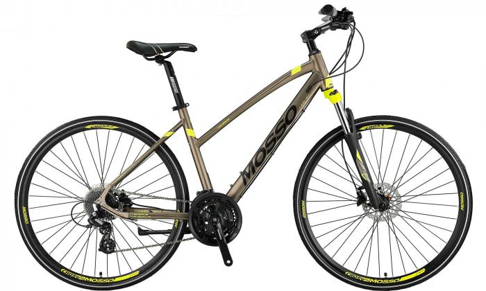 "Bicicleta Trekking Mosso Legarda 2024 -LSM -H - 410, Roata 28"", Aluminiu, Culoare gri/lime [0]"
