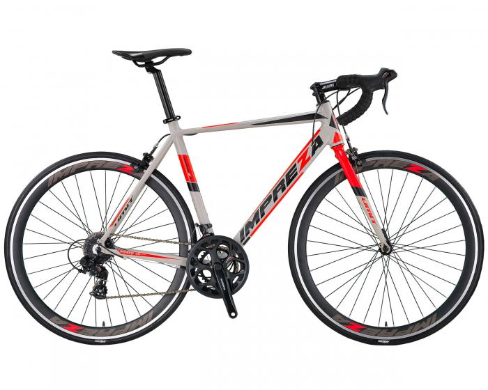 Bicicleta Umit Cursiera Impreza-Tourney- Roata 700C , 14 Viteze , Cadru 540mm Aluminiu, Culoare gri [0]
