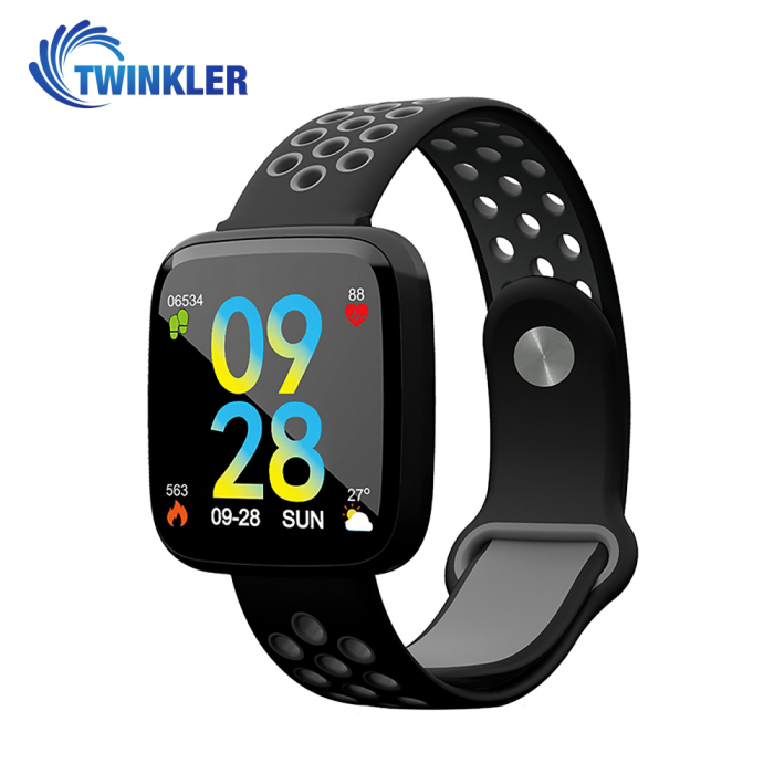 Bratara fitness inteligenta TKY-F15 cu functie de monitorizare ritm cardiac, Tensiune arteriala, Nivel oxigen, Monitorizare somn, Notificari Apel/ SMS, Incarcare magnetica, Negru-Gri [0]