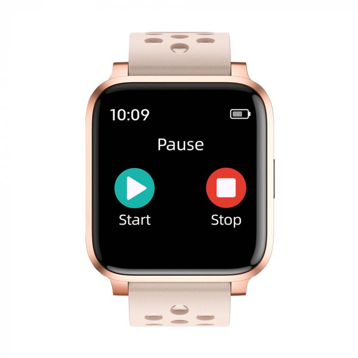 Bratara Fitness Tracker, Twinkler TKY-X3, Auriu, Monitorizare ritm cardiac, Notificari, Pedometru, Distanta [1]