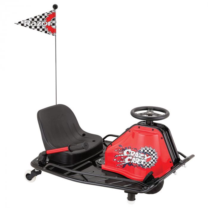 Cart electric Razor pentru drifturi 19km/h Razor Crazy Cart Negru/Rosu [0]