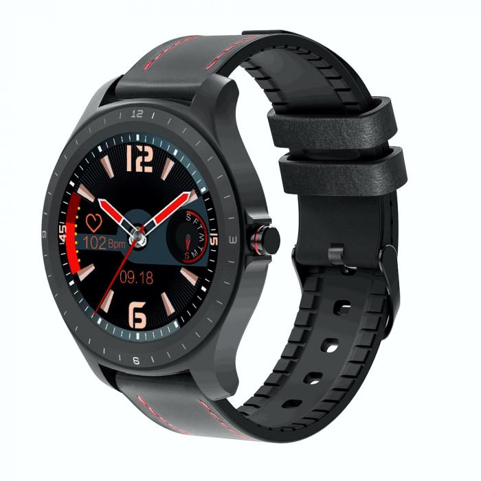 Ceas smartwatch BlitzWolf BW-HL2, Negru, Pedometru, Distanta, Calorii arse, 6 Moduri sportive, Sedentarism [0]