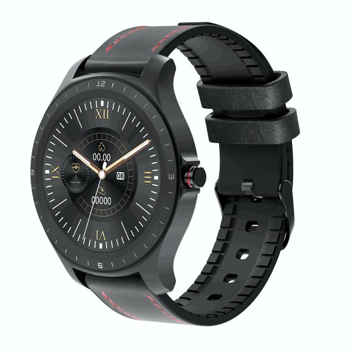 Ceas smartwatch BlitzWolf BW-HL2, Negru, Pedometru, Distanta, Calorii arse, 6 Moduri sportive, Sedentarism [1]