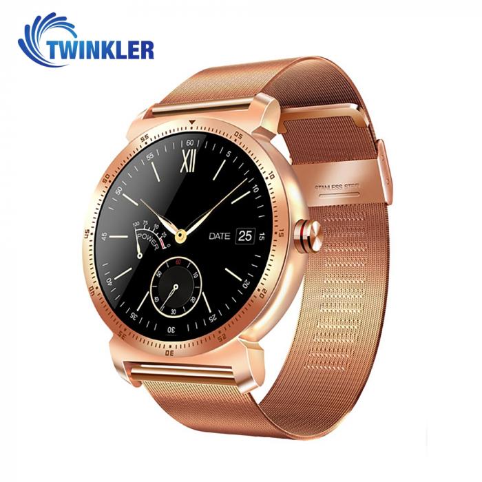 Ceas Smartwatch K88H Plus cu Functie Apelare prin Bluetooth, Senzor puls, Monitorizare somn, Notificari, Pedometru, Incarcare magnetica, Auriu [0]