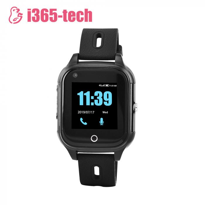 Ceas Smartwatch Pentru Copii i365-Tech FA28 cu Functie Telefon, Apel video, Localizare GPS, Camera, Pedometru, SOS, IP54, 4G, Negru [1]