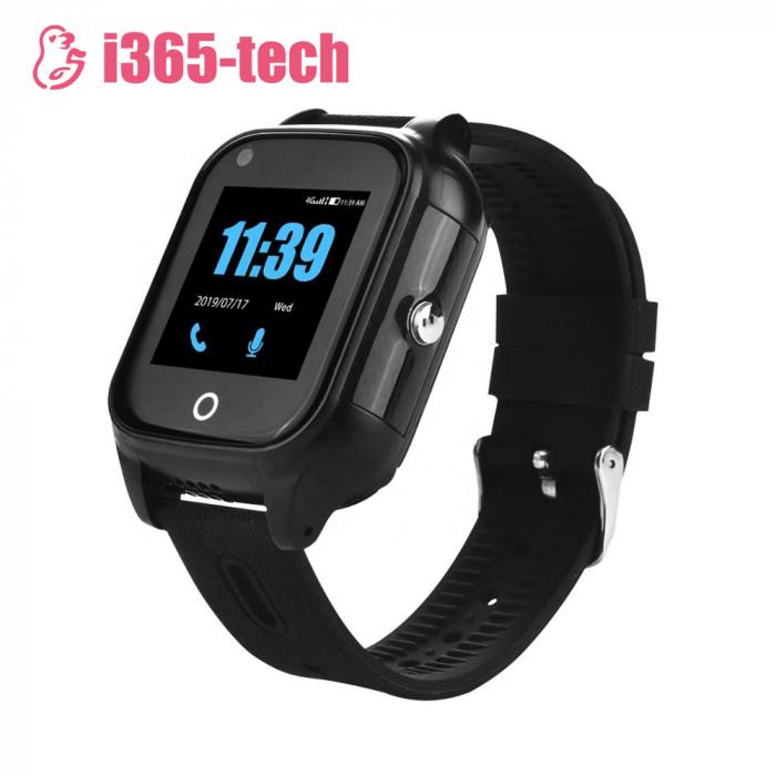 Ceas Smartwatch Pentru Copii i365-Tech FA28 cu Functie Telefon, Apel video, Localizare GPS, Camera, Pedometru, SOS, IP54, 4G, Negru [0]