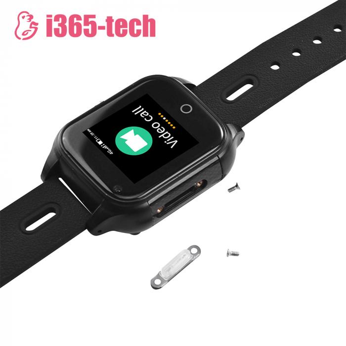 Ceas Smartwatch Pentru Copii i365-Tech FA28 cu Functie Telefon, Apel video, Localizare GPS, Camera, Pedometru, SOS, IP54, 4G, Negru [3]
