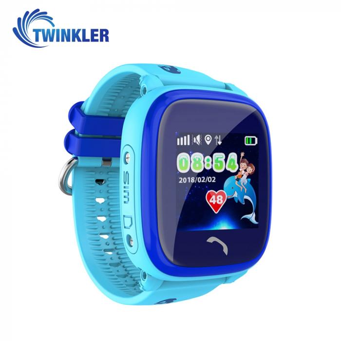 Ceas Smartwatch Pentru Copii Twinkler TKY-DF25 cu Functie Telefon, Localizare GPS, Pedometru, SOS, IP54 ; Albastru, Cartela SIM Cadou [0]