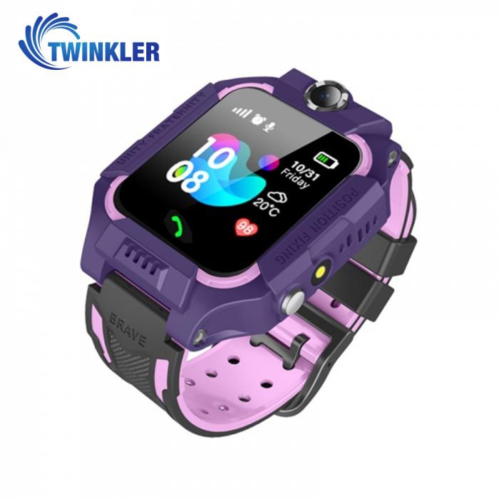 Ceas Smartwatch Pentru Copii Twinkler TKY-GK01 cu Functie Telefon, Localizare GPS, Camera, Lanterna, Joc Matematic, Apel de monitorizare, Mov [2]