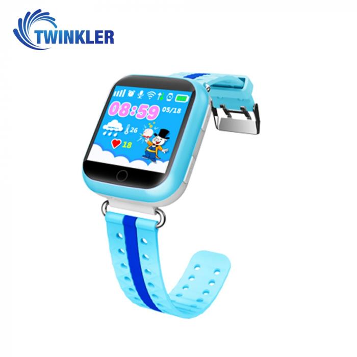 Ceas Smartwatch Pentru Copii Twinkler TKY-Q100 cu Functie Telefon, Localizare GPS, Pedometru, SOS, Detectie inlaturare ceas, Albastru [0]