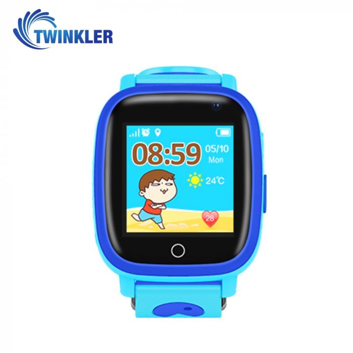 Ceas Smartwatch Pentru Copii Twinkler TKY-Q11 cu Functie Telefon, Localizare GPS, Camera, Lanterna, SOS, Pedometru, Joc matematic, IP54 ; Albastru [0]