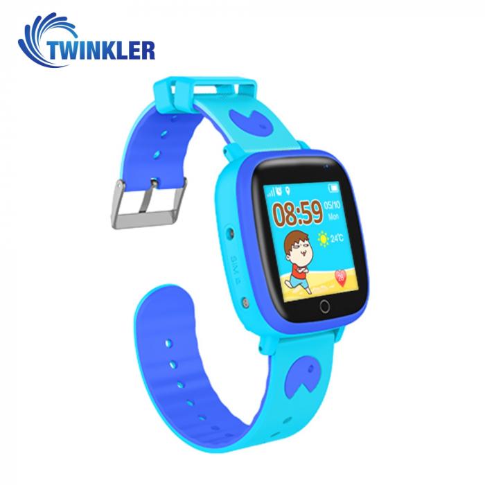 Ceas Smartwatch Pentru Copii Twinkler TKY-Q11 cu Functie Telefon, Localizare GPS, Camera, Lanterna, SOS, Pedometru, Joc matematic, IP54 ; Albastru [2]