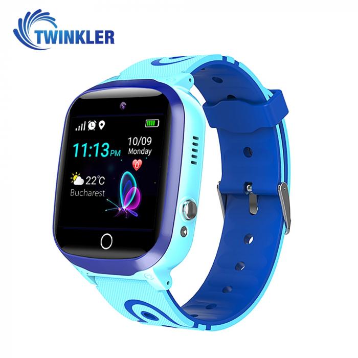 Ceas Smartwatch Pentru Copii Twinkler TKY-Q15 cu Functie Telefon, Localizare GPS, Istoric traseu, Apel de Monitorizare, Camera, SOS, Joc Matematic, Albastru, Cartela SIM Cadou [0]