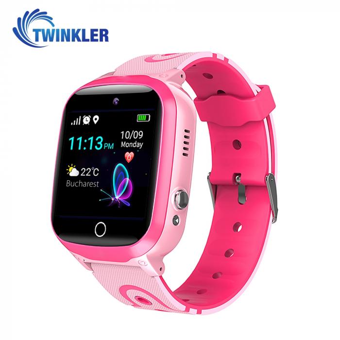 Ceas Smartwatch Pentru Copii Twinkler TKY-Q15 cu Functie Telefon, Localizare GPS, Istoric traseu, Apel de Monitorizare, Camera, SOS, Joc Matematic, Roz, Cartela SIM Cadou [0]