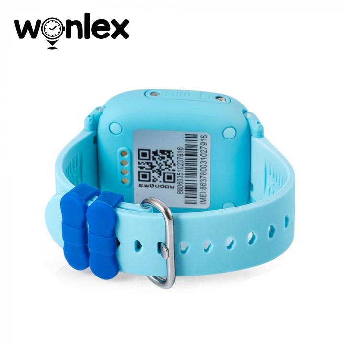 Ceas Smartwatch Pentru Copii Wonlex GW400S WiFi cu Functie Telefon, Localizare GPS, Pedometru, SOS, IP54 ; Bleu, Cartela SIM Cadou [2]