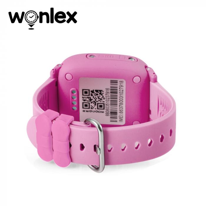 Ceas Smartwatch Pentru Copii Wonlex GW400S WiFi cu Functie Telefon, Localizare GPS, Pedometru, SOS, IP54 ; Roz, Cartela SIM Cadou [2]