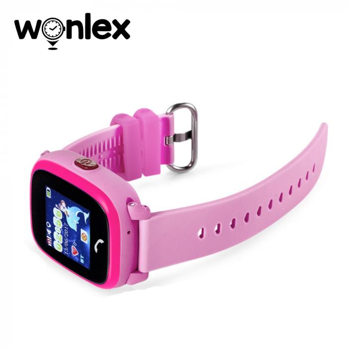 Ceas Smartwatch Pentru Copii Wonlex GW400S WiFi cu Functie Telefon, Localizare GPS, Pedometru, SOS, IP54 ; Roz, Cartela SIM Cadou [3]
