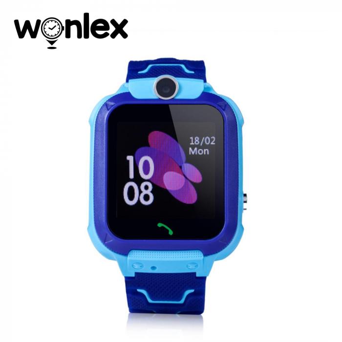 Ceas Smartwatch Pentru Copii Wonlex GW600S cu Functie Telefon, Localizare GPS, Monitorizare somn, Camera, Pedometru, SOS, IP54 ; Albastru, Cartela SIM Cadou [2]