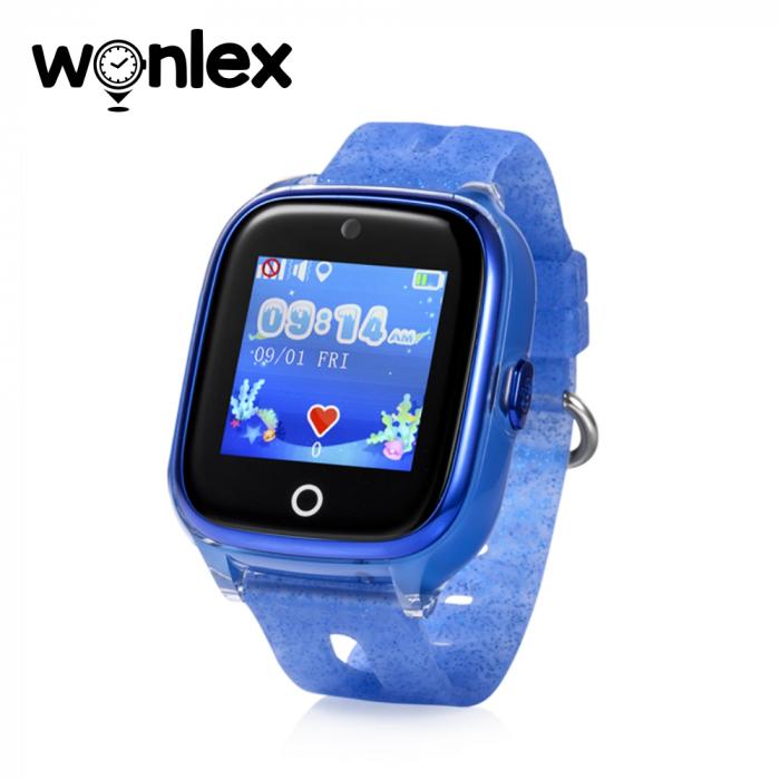 Ceas Smartwatch Pentru Copii Wonlex KT01 cu Functie Telefon, Localizare GPS, Camera, Pedometru, SOS, IP54 ; Albastru, Cartela SIM Cadou [0]