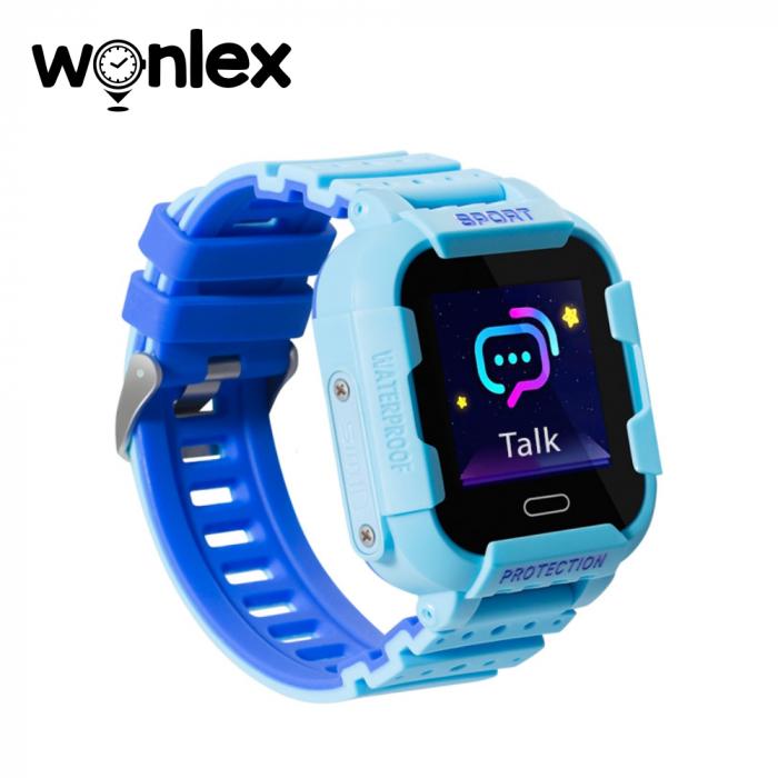 Ceas Smartwatch Pentru Copii Wonlex KT03 cu Functie Telefon, Localizare GPS, Camera, Pedometru, SOS, IP54 ; Albastru, Cartela SIM Cadou [2]