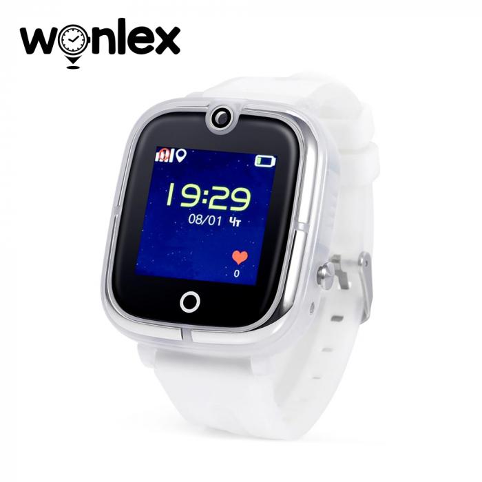 Ceas Smartwatch Pentru Copii Wonlex KT07 cu Functie Telefon, Localizare GPS, Camera, Apel Monitorizare, Pedometru, SOS ; Alb, Cartela SIM Cadou [0]