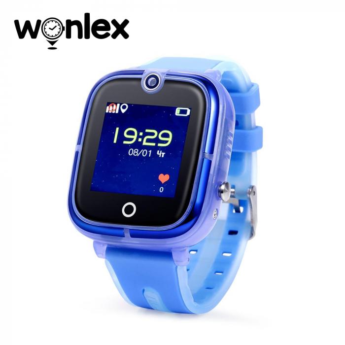 Ceas Smartwatch Pentru Copii Wonlex KT07 cu Functie Telefon, Localizare GPS, Camera, Apel Monitorizare, Pedometru, SOS ; Albastru, Cartela SIM Cadou [0]