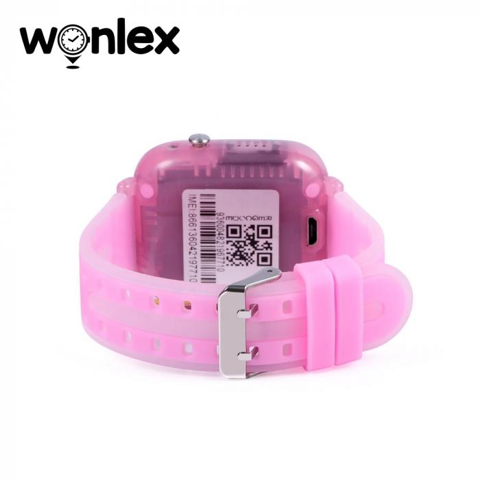Ceas Smartwatch Pentru Copii Wonlex KT07 cu Functie Telefon, Localizare GPS, Camera, Apel Monitorizare, Pedometru, SOS ; Roz, Cartela SIM Cadou [3]