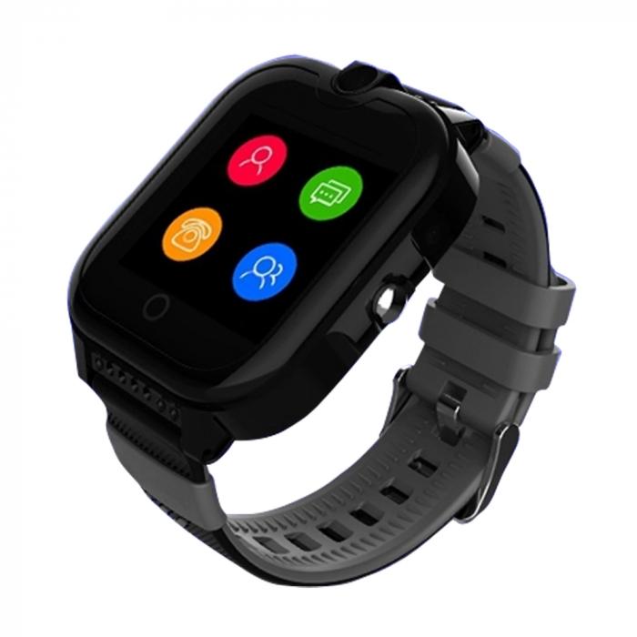 Ceas Smartwatch Pentru Copii, Wonlex KT13, Negru, SIM card, 4G, Rezistent la stropi IP54, Apel video [0]
