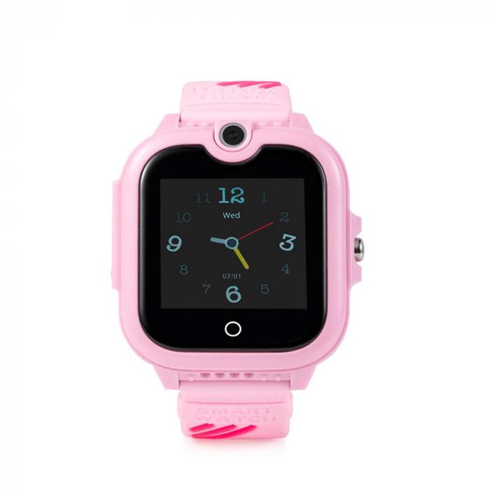 Ceas Smartwatch Pentru Copii, Wonlex KT13, Roz, SIM card, 4G, Rezistent la stropi IP54, Apel video [0]